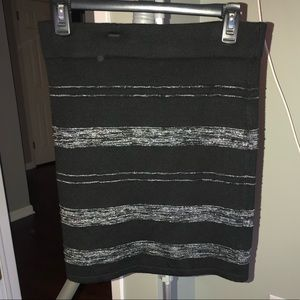 Dresses & Skirts - Black and silver striped skirt